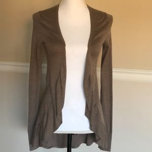 Express Cardigan Sweater with Ruffles